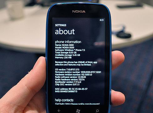 El Nokia Lumia 610 se beneficiará del nuevo SDK de Windows Phone