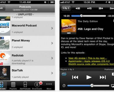 Accede a los podcasts más populares con DownCast para iPhone y para el iPad
