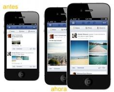 Facebook rediseña el feed de noticias e imágenes para iOS y Android