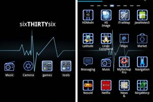 GO Launcher EX Néon Azul Theme, Viste tu tu Android con este tema muy atractivo