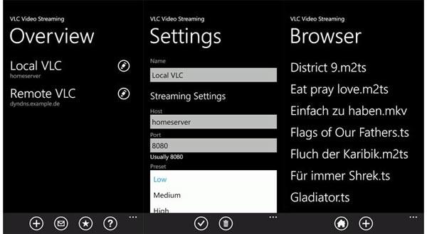 VLC Video Player ya disponible en el Marketplace para hacer streaming a cualquier formato