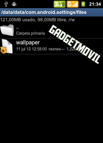 Como ubicar el fondo de pantalla activo de Android y copiarlo