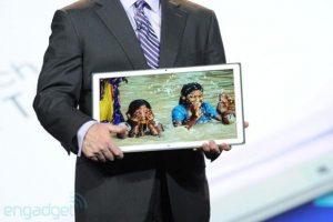 Tablet de Panasonic con una resolución 4K y pantalla de 20 pulgadas