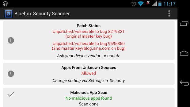 BlueBox Security Scanner escaner