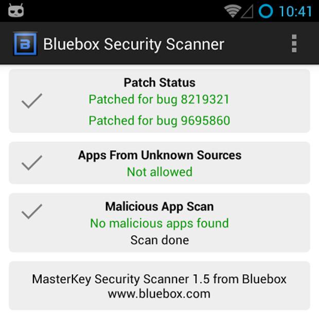 Bluebox te muestra que la falla de seguridad de Android ya fue corregida