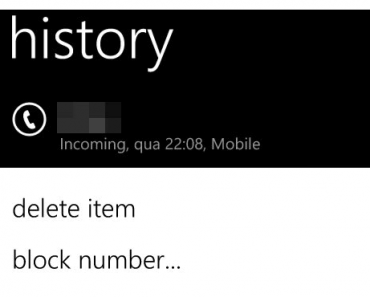 Como bloquear llamadas y SMS de un numero – Windows Phone