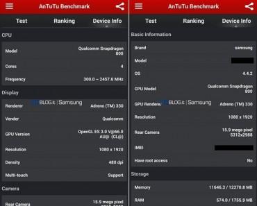 Un posible Galaxy S5 se muestra en AnTuTu