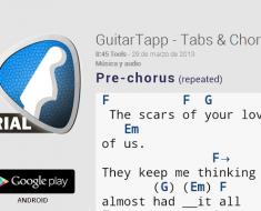GuitarTapp Tabs & Chords, encuentra acordes y tablaturas de guitarras