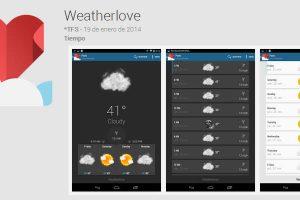 Weatherlove, una aplicación meteorológica para conocer el tiempo en tu ciudad