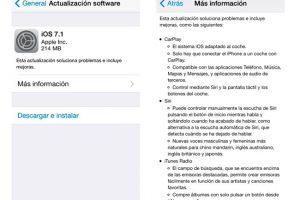 Apple lanza iOS 7.1 correcciones de bugs y reinicio aleatorios